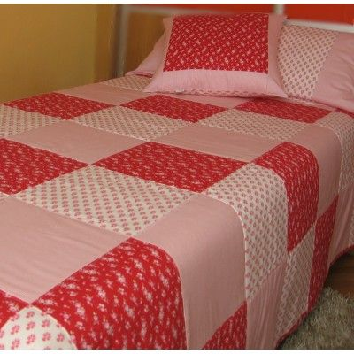 Conjunto en patchwork colchas nordicas pinterest - Patrones colcha patchwork ...