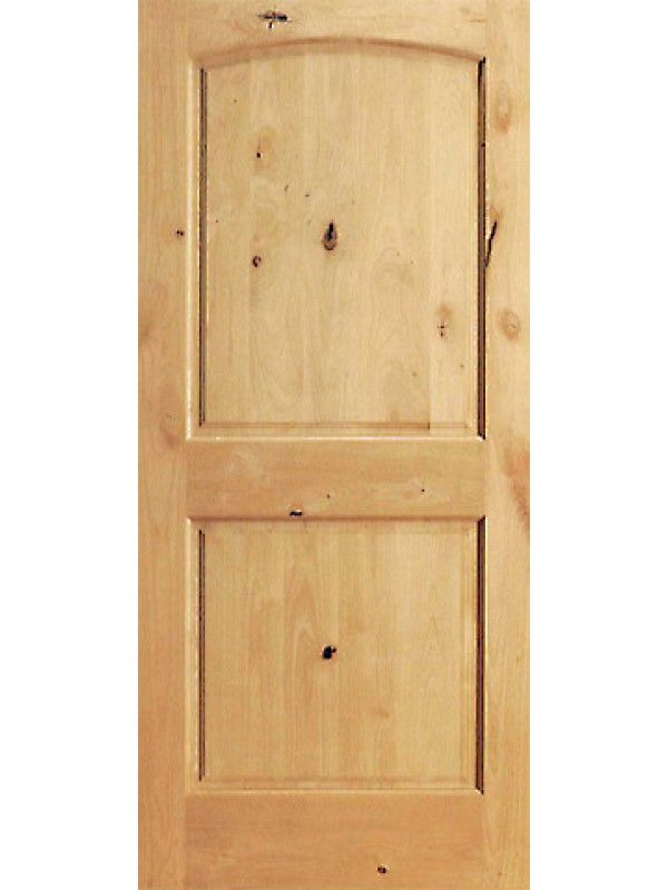 S W 95 Interior Knotty Alder 2 Panel Arch Top Panel Single Door Doors Interior Single Doors Interior Wood Shutters