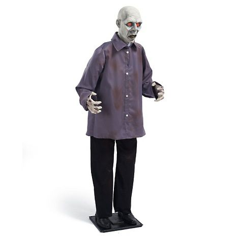 Grandin Road Life-Size Animated Zombie at HSN HSN HALLOWEEN - animated halloween decorations