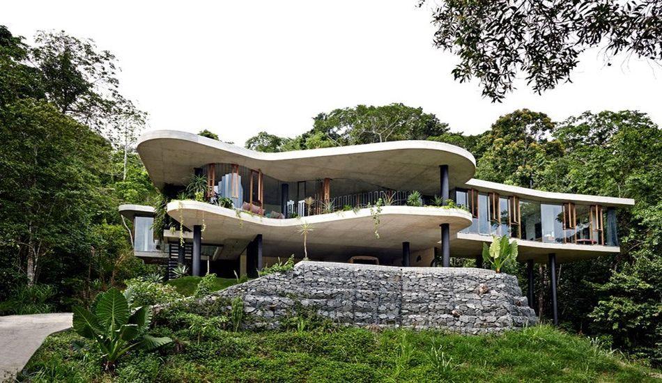 Superbe maison contemporaine sur pilotis offrant un havre de paix en