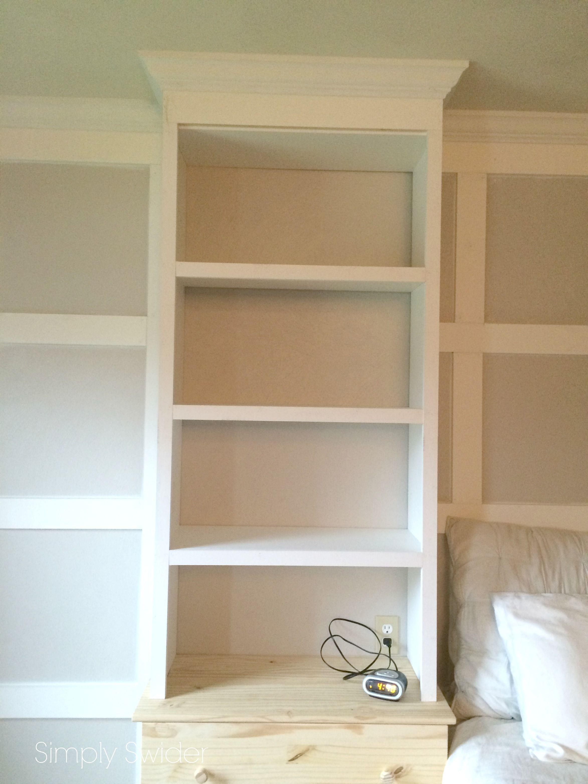 Used Ikea Dressers Minus Legs Plus Built Bookshelves On Top Small Master Bedroom Master Bedroom Closet Built In Wall Shelves