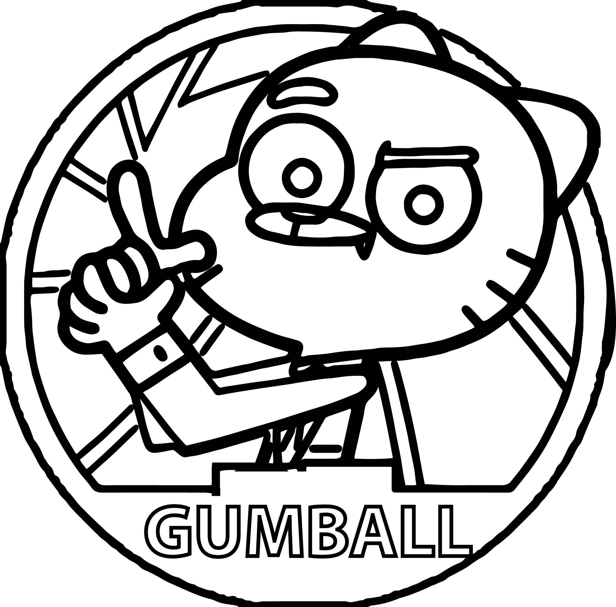 Nice Agent Gumball Circle Coloring Pages Angel Coloring Pages Gumball Coloring Pages