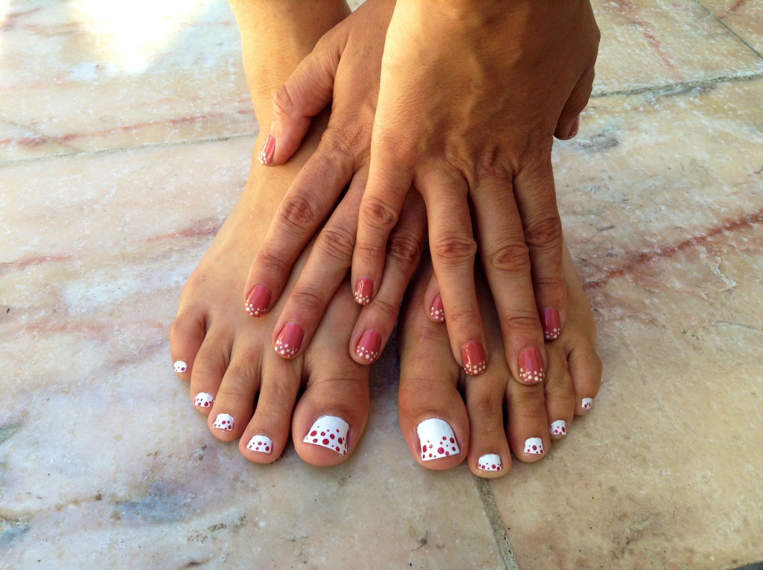 Gel ii custom nail art manicure with a Butter London pedicure- The perfect pair!