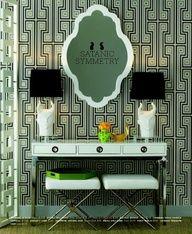 Bold Jonathan Adler green #pattern @Pantone  #coloroftheyear #emerald