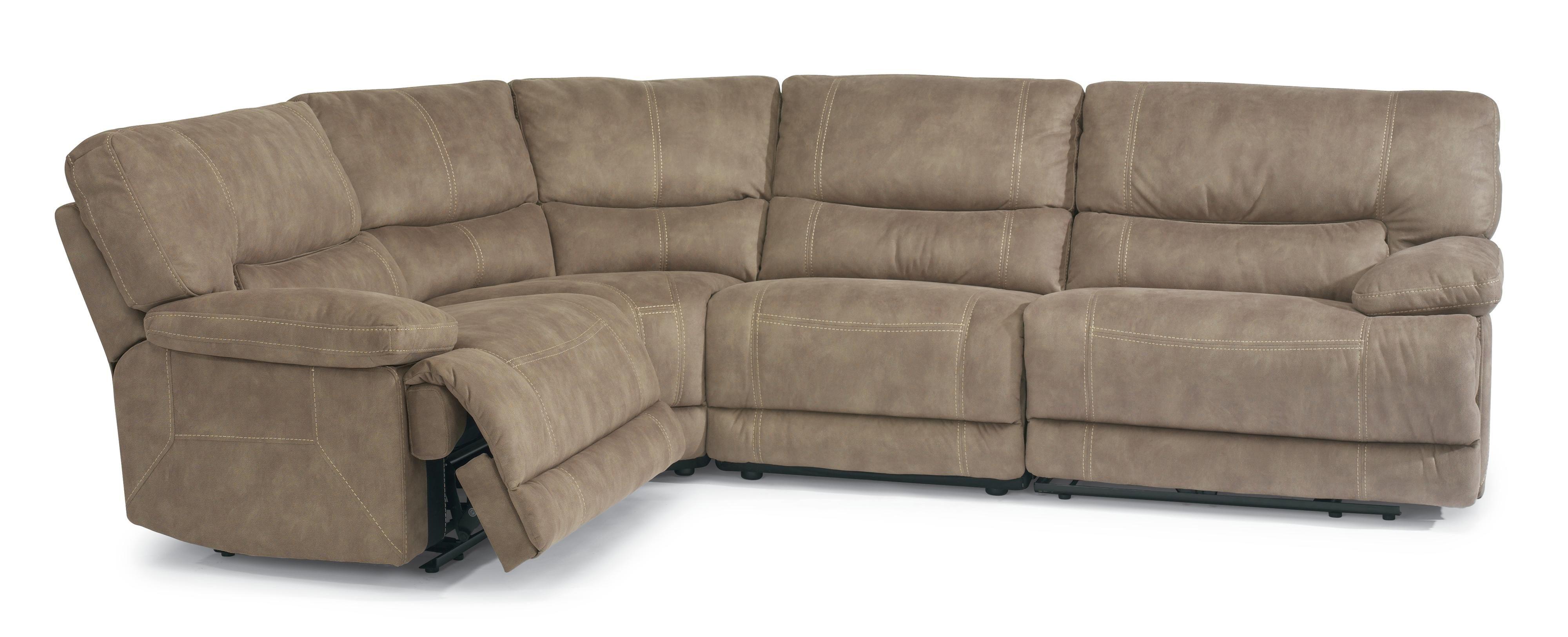 Pasadena Reclining Sectional Sofa By Flexsteel At Crowley