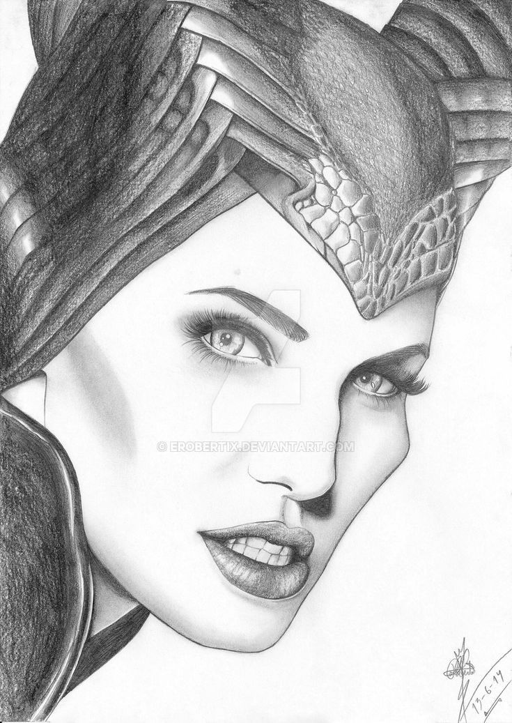 Pin By Evelin Mina On Portraits Of Girls Maleficent Drawing Maleficent Art Celebrity Drawings
