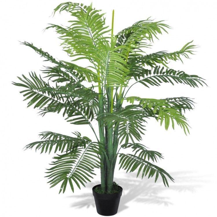 Artificial Plant Tree Phoenix Palm Black Pot Outdoor Garden Home Office Lifelike