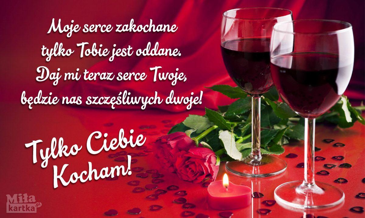 Tylko Ciebie Kocham Walentynki Polska Miłość Kochanie