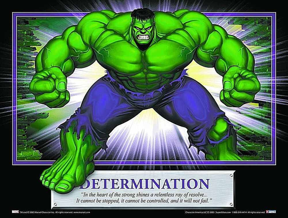 """Details about Hulk """"Determination"""" SuperLitho 8"""" X 10"""