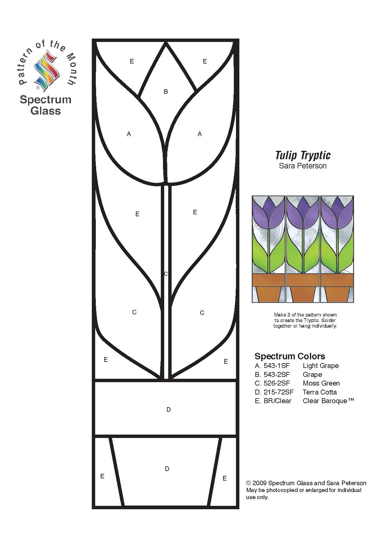 Stained Glass Spectrum Pattern | Templates/Patterns | Pinterest ...