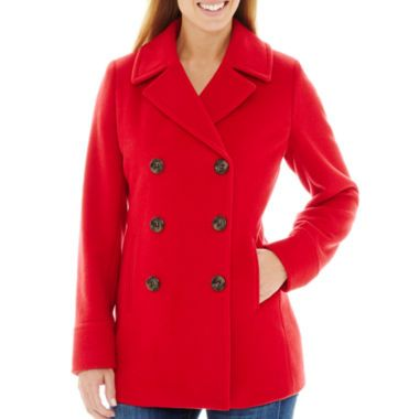 31818b8f5580 St. John s Bay® Wool-Blend Pea Coat found at  JCPenney