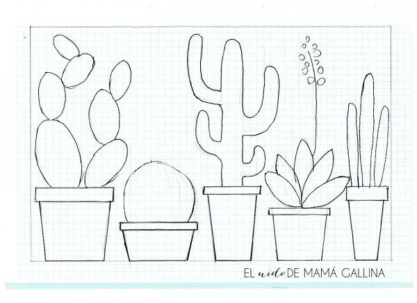 DIY: Lámina de cactus reciclando revistas   manualidades   Pinterest ...
