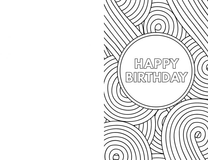 Happy Birthday Coloring Pages Simple And Hard 101 Coloring Free Printable Birthday Cards Happy Birthday Cards Printable Happy Birthday Coloring Pages