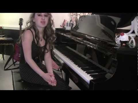 Back to December/Apologize/You're Not Sorry Cover by Taylor Swift Piano Lyric Video Tutorial -ish by Briana Layfield Music - ask for chords!
