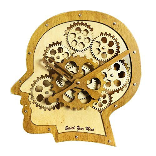 Kintrot Moving Gear Clock 3D Brain Model Retro Decorative... https ...