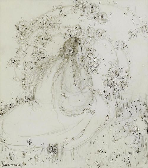 artshers: Jessie M. King - . The Girl Beneath the Bower