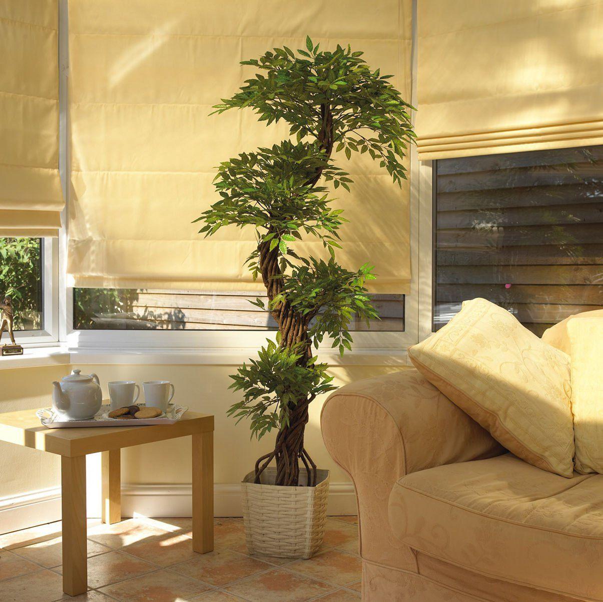 Elegante fruticosa japonesa artificial arbol lujosa for Arbol interior
