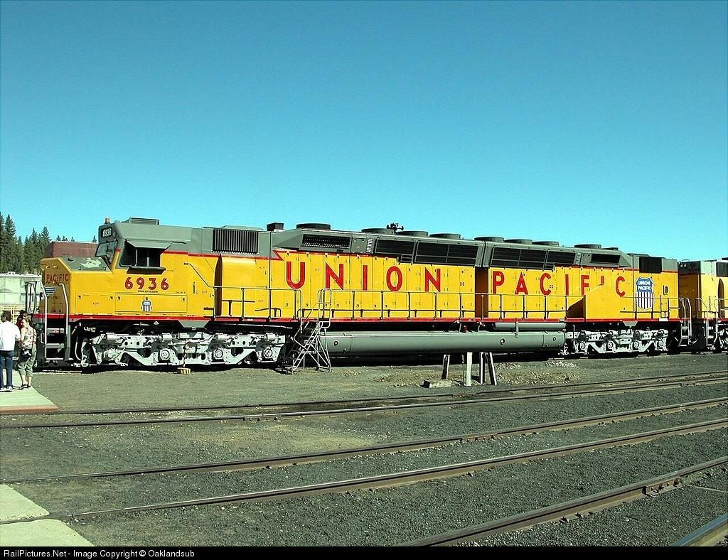 RailPictures.Net Photo: UP 6936 Union Pacific EMD DD40AX at Portola, California by Oaklandsub