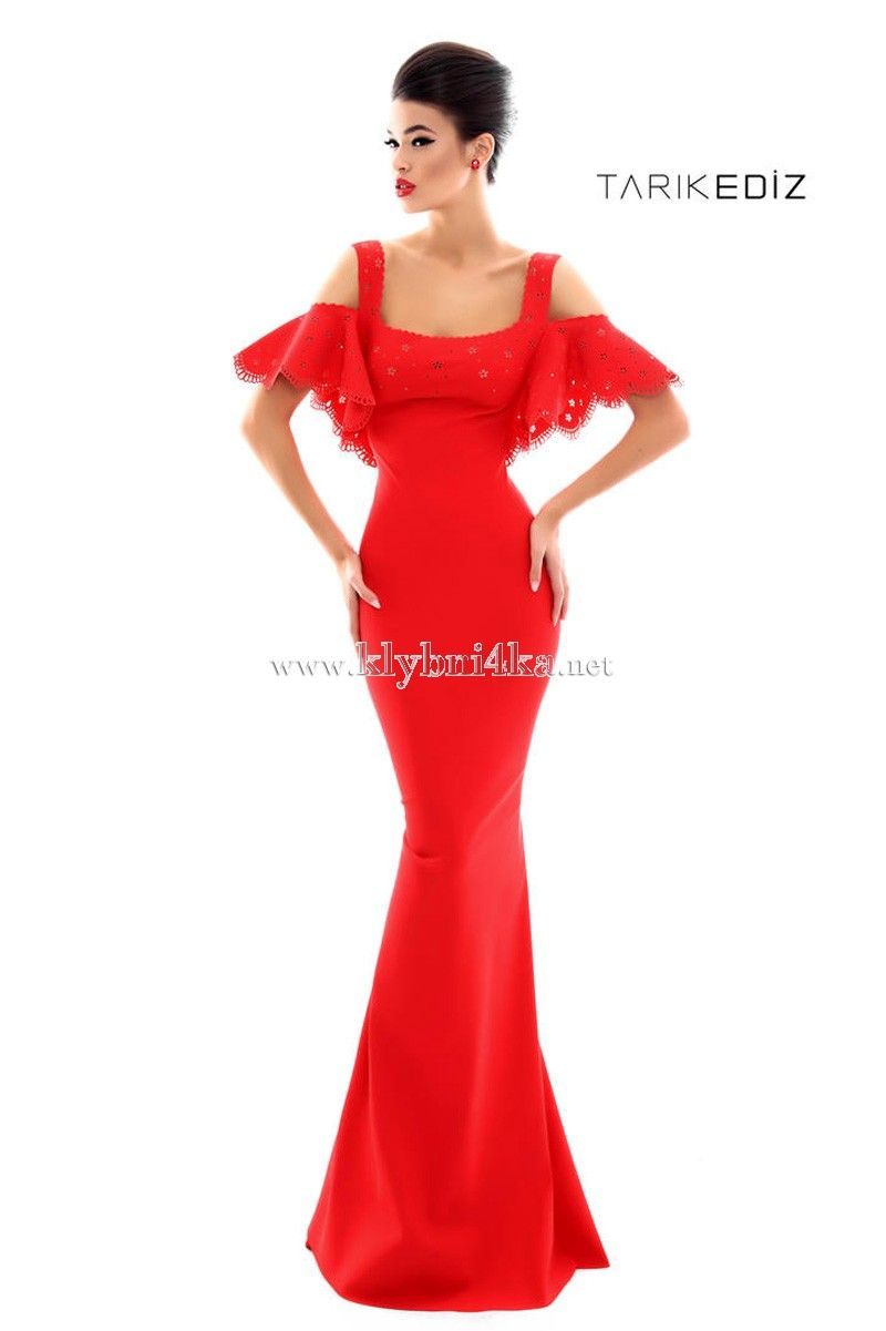 5bd35f5c5d0 Красное платье на бретелях Tarik Ediz 50332  ladies  sexyback   dreamdress exclusivedresses