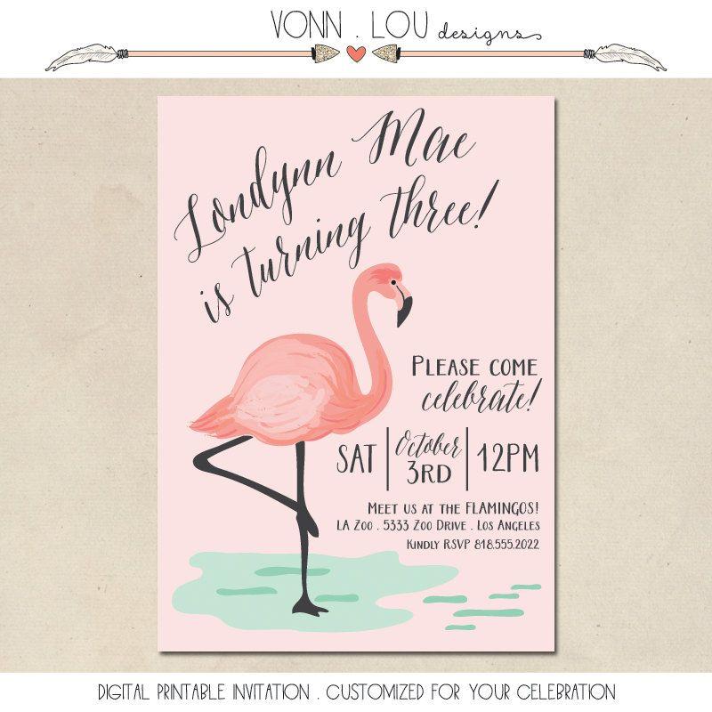 Flamingo invitation flamingo party pool party baby shower flamingo invitation flamingo party pool party baby shower bridal shower wedding filmwisefo