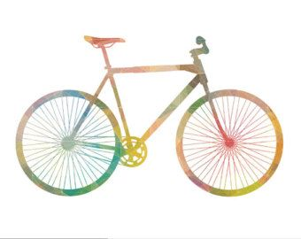 Bicycle Art Bike Posters Retro Bicycle Print Colourful Bicycle