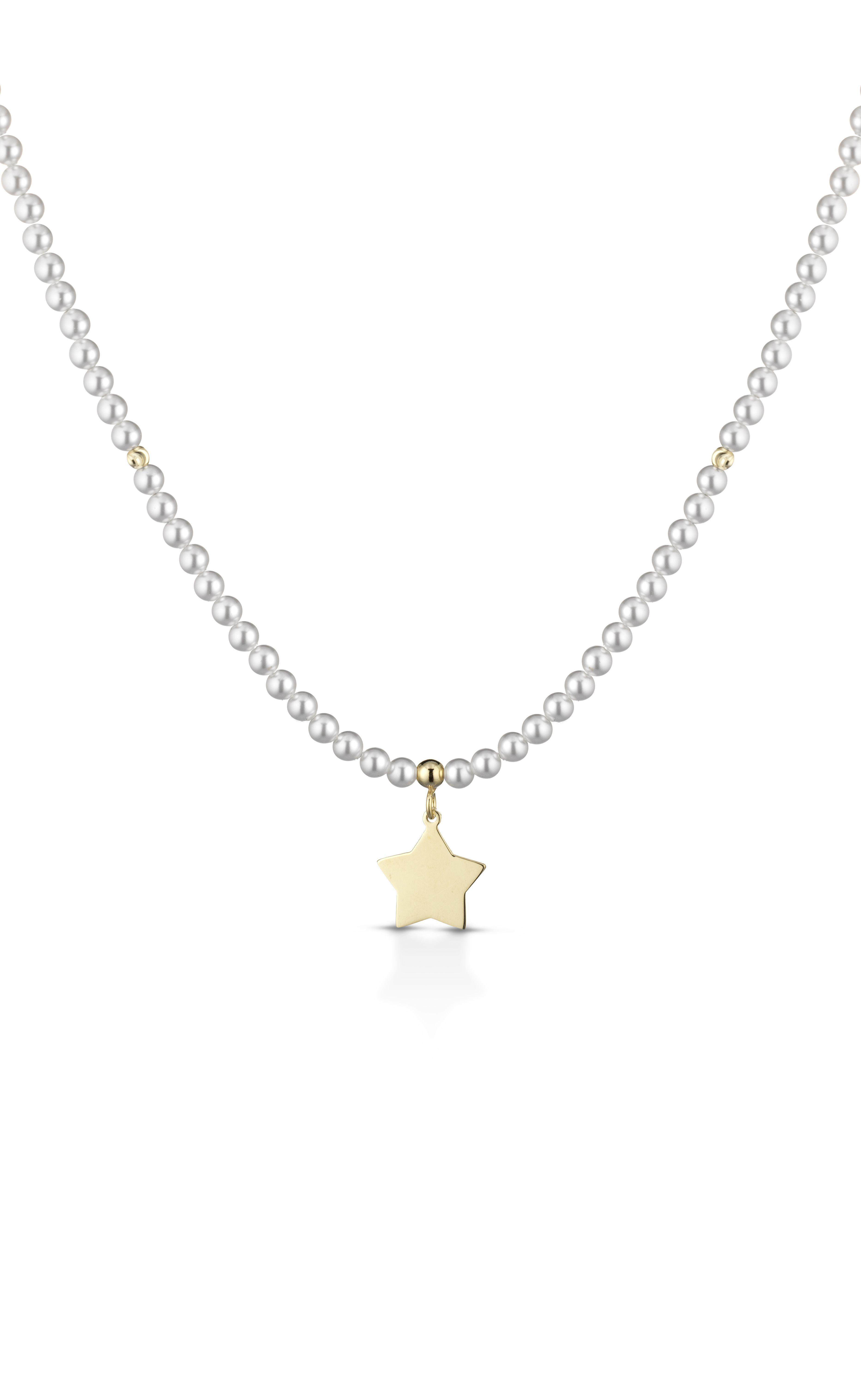 newest 23a8b ab03f Collana Collana Perle con stella pendente - cod. MF 182 ...