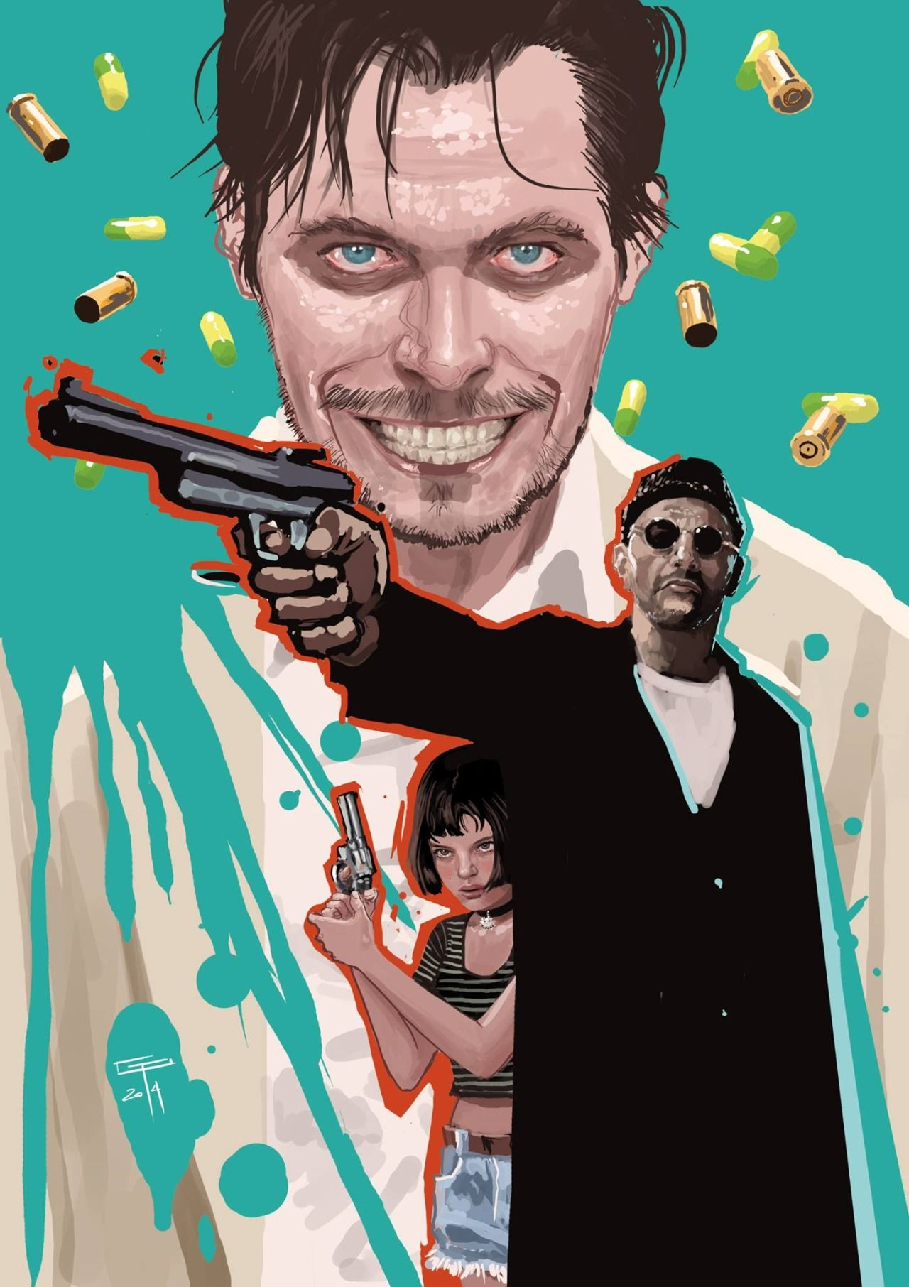 Cult actors. Leon - Aesthetic gangster drama from Luc Besson 88