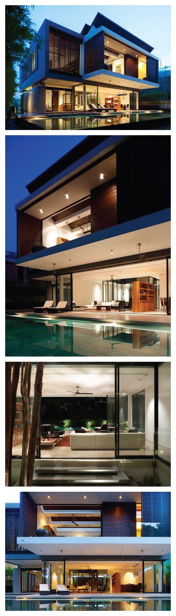 by Ong & Ong: | biệt thự | Pinterest | Architektur, Moderne häuser ...