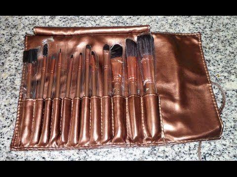 BROADCARE, Set de 12 Brochas de Maquillaje Profesionales