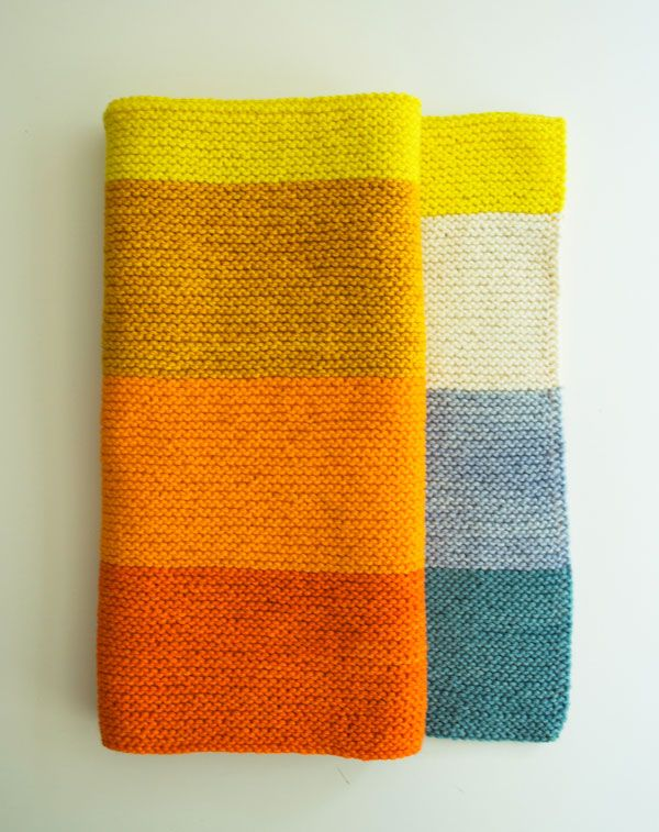 Faye's New Super Easy Baby Blanket - love this palette (via the purl bee)