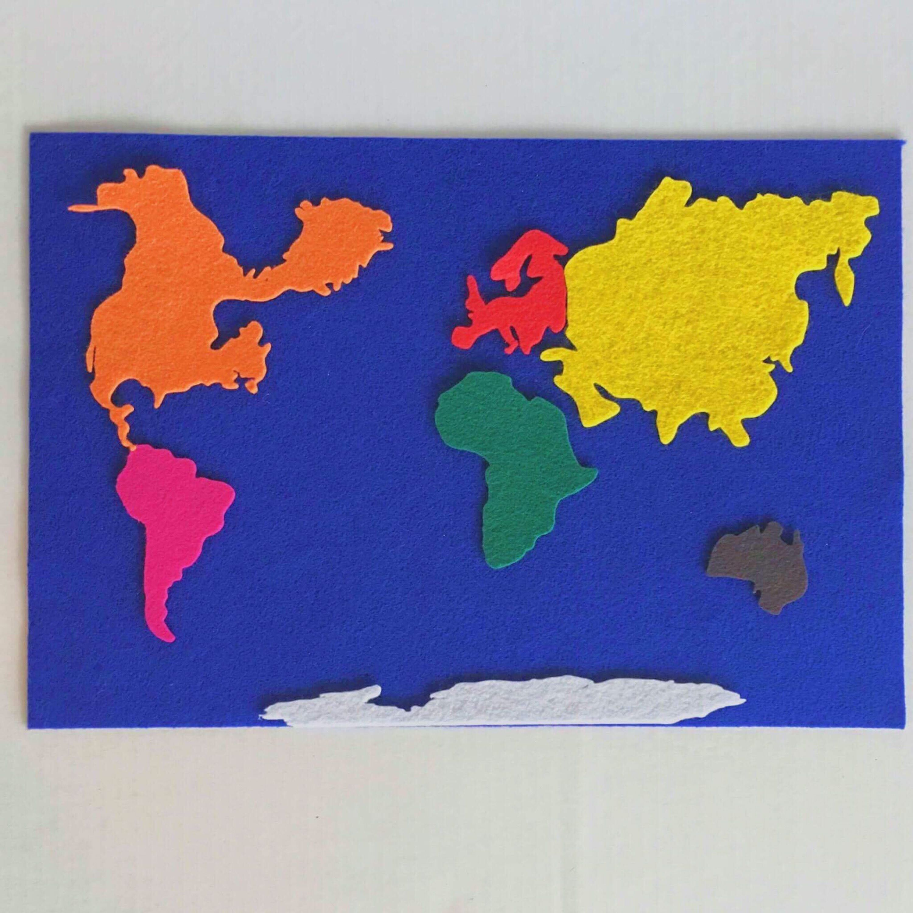 A personal favorite from my etsy shop httpsetsylisting 8 piece felt continent world map gumiabroncs Choice Image