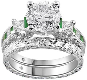 191 Carat Corina2 Emerald Diamond Engagement Ring If I could