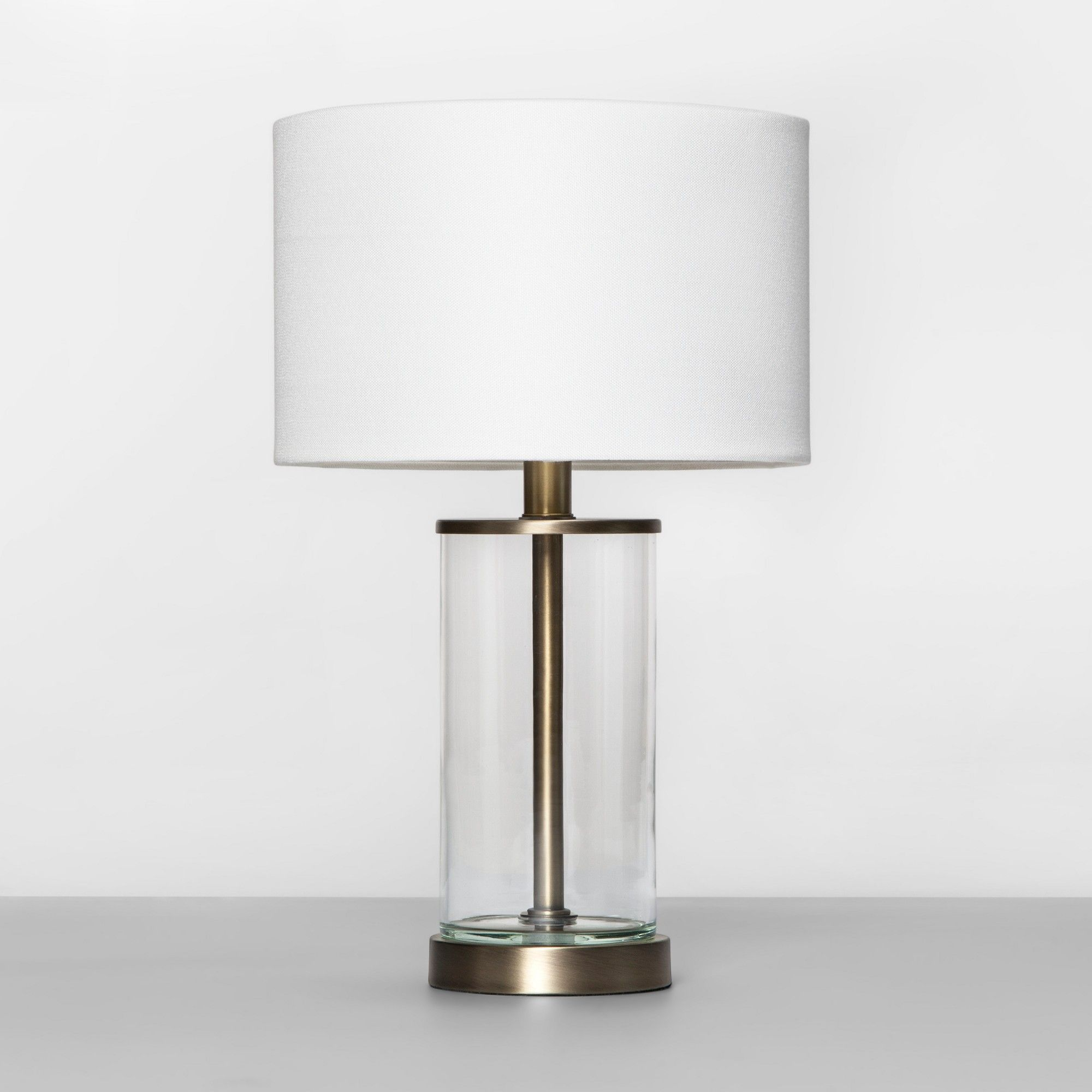Fillable Accent With Usb Table Lamp Brass Project 62 Brass Table Lamps Table Lamp Lamp
