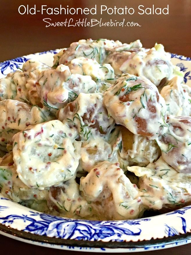 Sweet Little Bluebird: Old-Fashioned Potato Salad