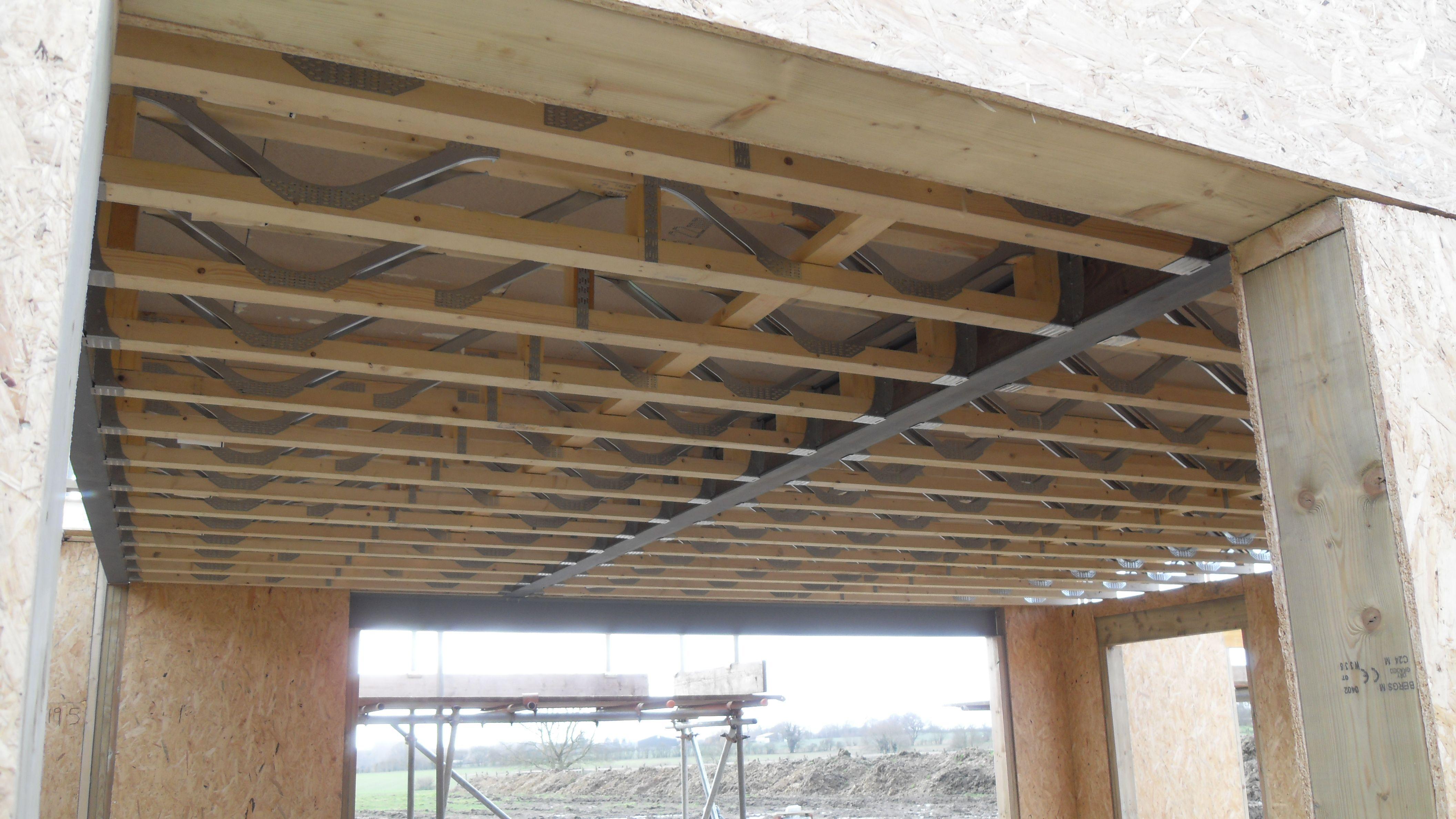 Open Web Floor Joists Steel Beam And Sip Panels Sip House