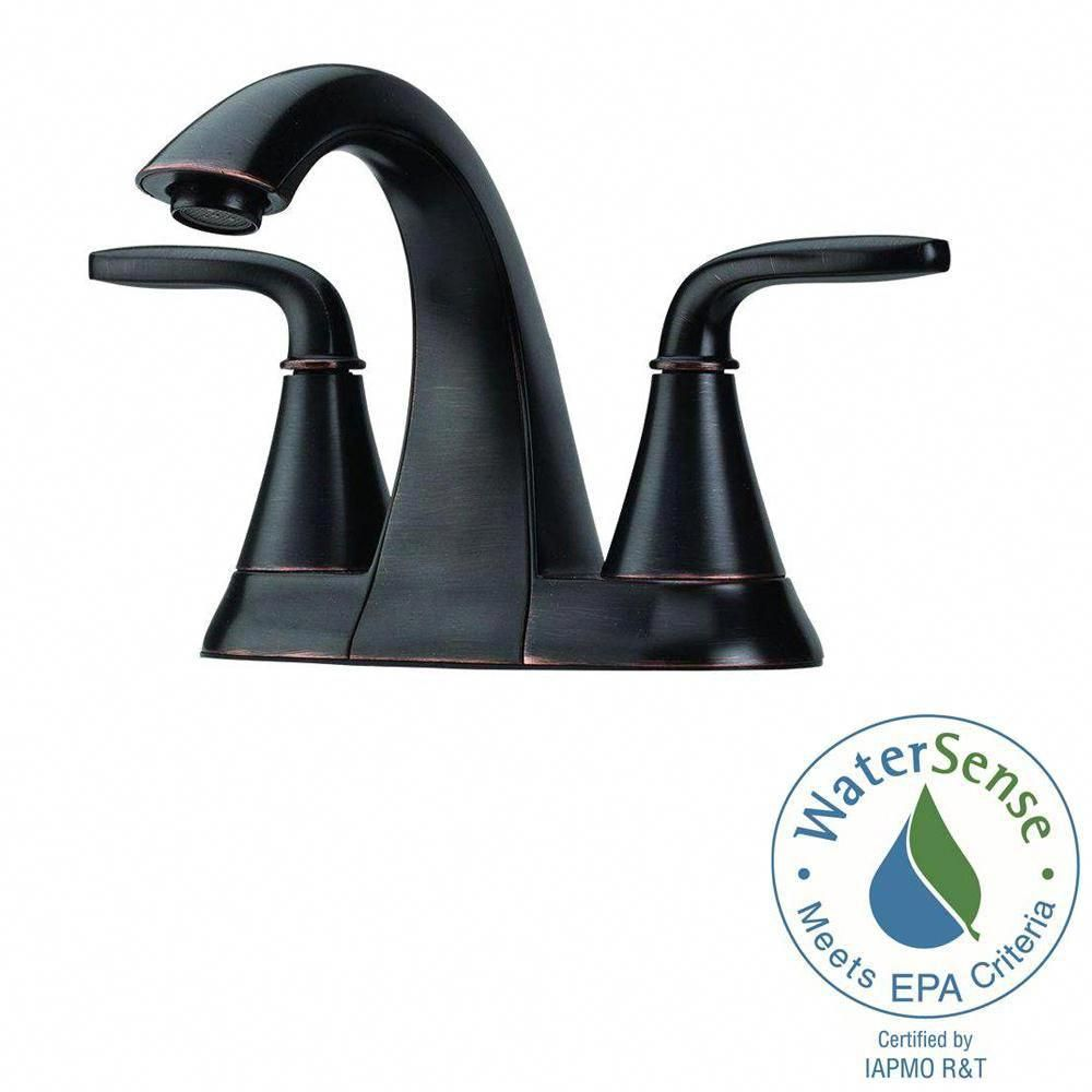pfister pasadena 4 in centerset 2 handle bathroom faucet in tuscan rh pinterest com