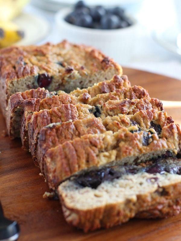 Paleo Friendly Banana Blueberry Breakfast Bread {No Nuts!} - The Paleo Diet Cafe