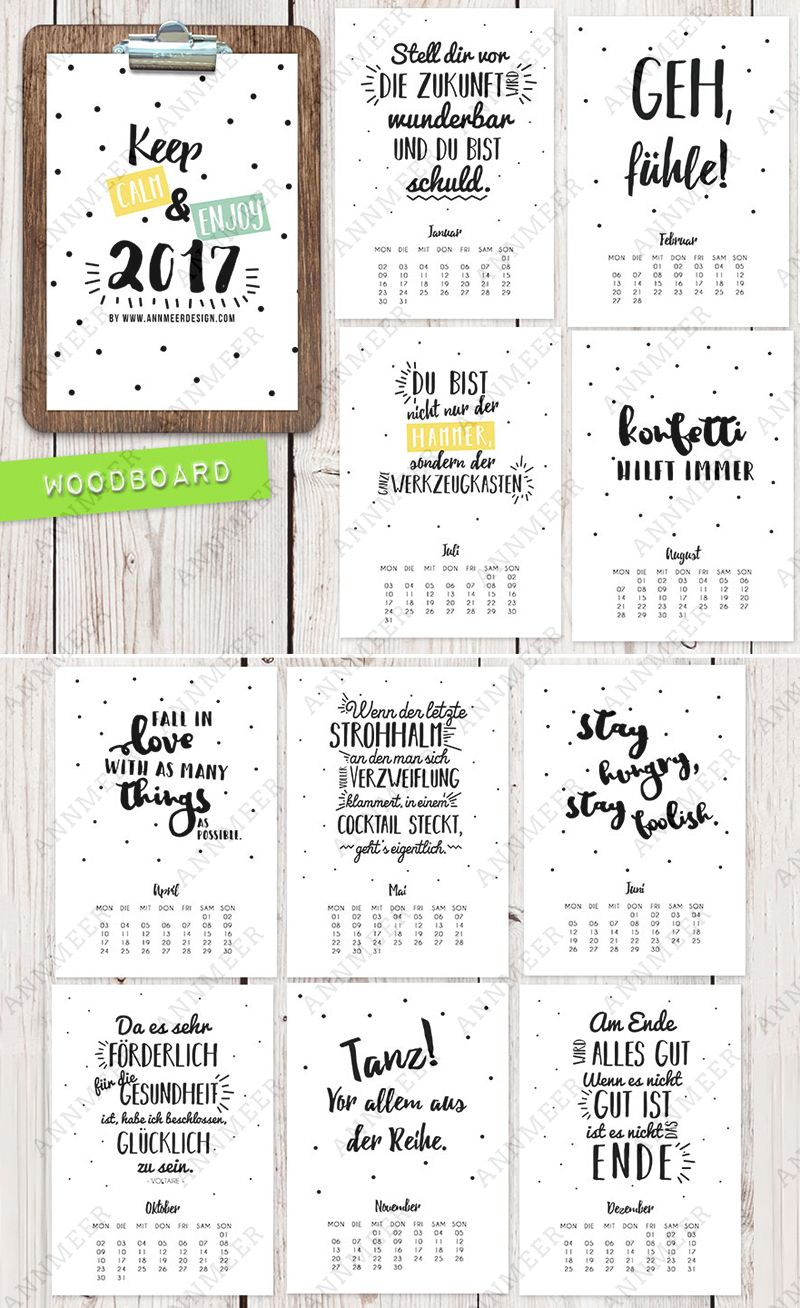 Kalender 2017 Ann.Meer by Anna-Maria Dahms | Tєхtuαl ✍ | Pinterest ...