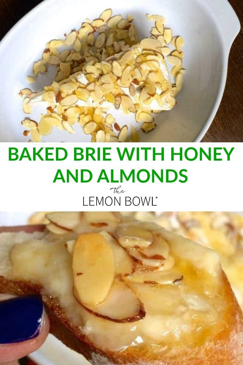 The easiest appetizer you'll ever make, this warm baked brie with honey and sliced almonds is a crowd favorite and takes just minutes to make.