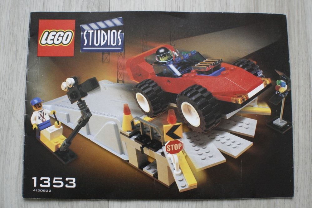 Details About Lego 1353 Instruction Book For Car Stunt Studio Lego