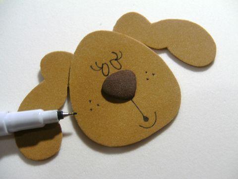 Bloquinho de cachorrinha com fitas Sinimbu - passo 4