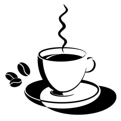 r sultat de recherche d 39 images pour dessin tasse cafe noir et blanc dessin coffee latte. Black Bedroom Furniture Sets. Home Design Ideas
