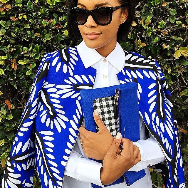 """""""It's all in the details.... #DVF #houseofdvf #fashion #mixprints"""""""