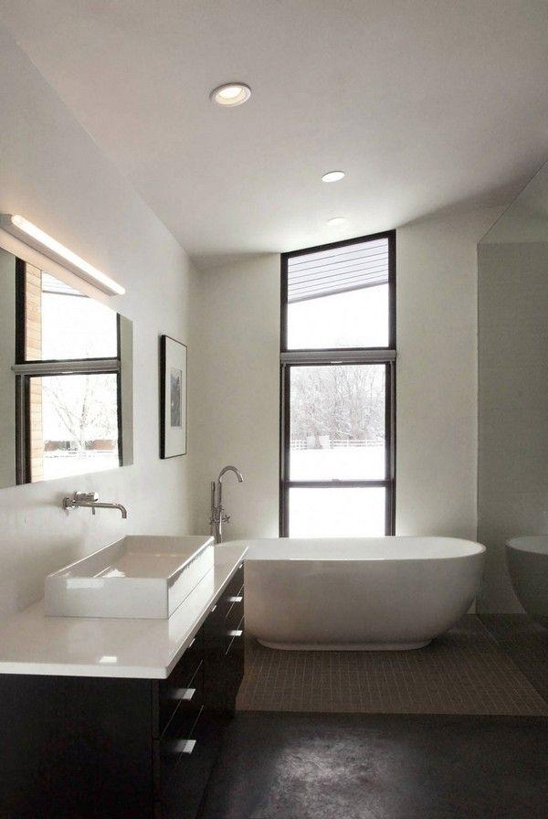 single level haus - zeitgenössische kleines badezimmer | bad, Hause ideen