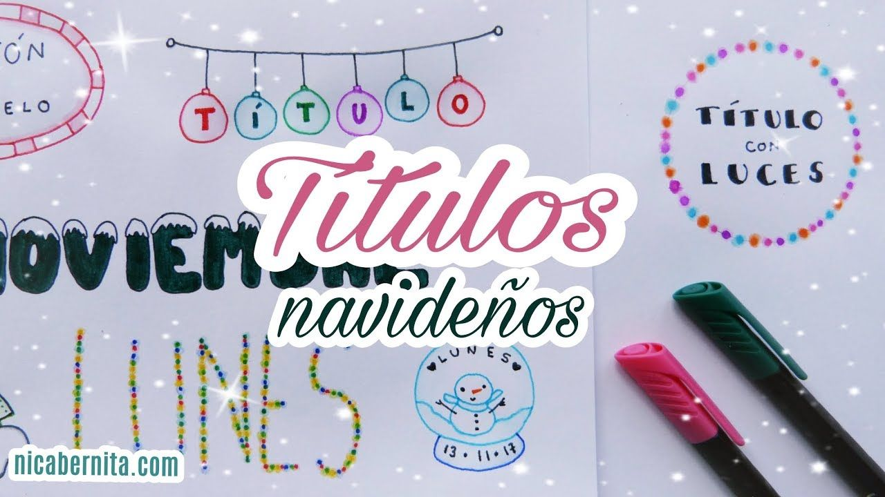 Ideas De MÁrgenes Para Decorar Cuadernos Y Libretas: IDEAS PARA DECORAR APUNTES Y CUADERNOS EN NAVIDAD (1