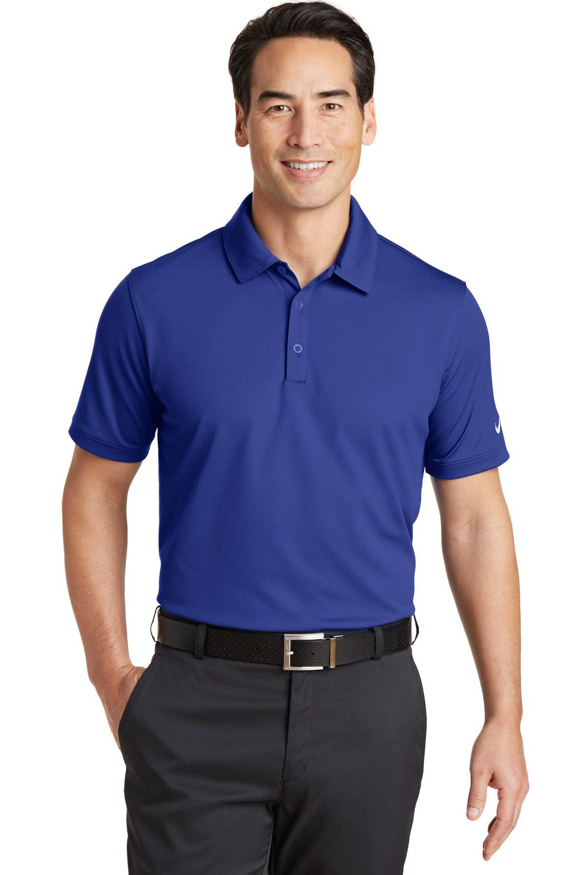 d8bc6aad Nike Dri-FIT Solid Icon Pique Modern Fit Polo 746099 Deep Royal Blue ...