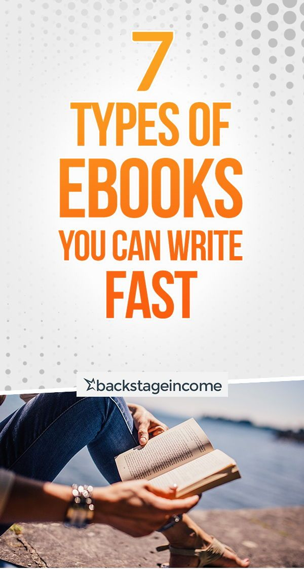 7 Types of eBooks You Can Write & Launch Fast! #BS