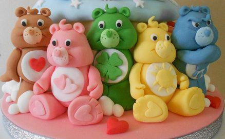 Care Bears giant cupcake