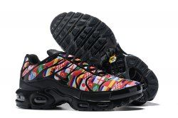 cbefc1c2472 Newest Nike Air Max Plus Tn NIC QS International Flag Black Multi-color  AO5117 001 Women s Men s Running Shoes Sneakers
