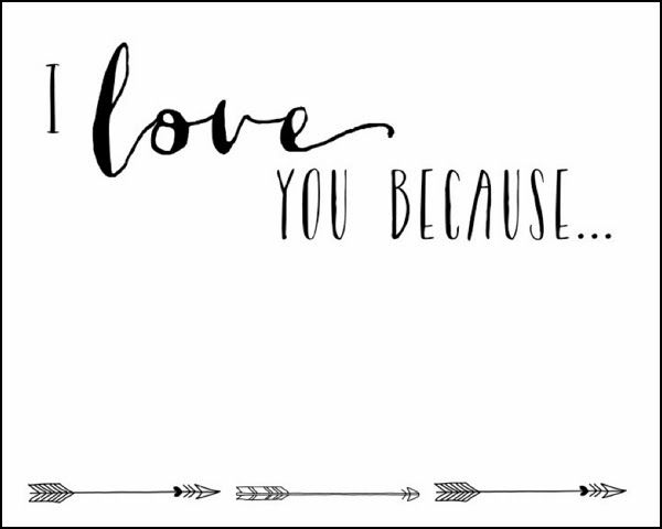 I Love You Because Printable Just Framed This In A 3